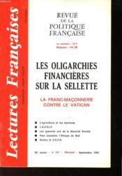 Revue De La Politique Francaise - Mensuel N°341 - Les Oligarchies Financieres Sur La Sellette - La Franc-Maconnerie Contre Le Vatican - Couverture - Format classique