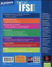Je prépare ; total IFSI (édition 2016) - 4ème de couverture - Format classique