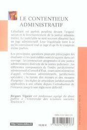 Le contentieux administratif (2e édition) (2e édition) - 4ème de couverture - Format classique