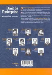 Droit de l'entreprise ; l'essentiel pour comprendre - 4ème de couverture - Format classique