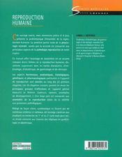 Reproduction humaine - 4ème de couverture - Format classique