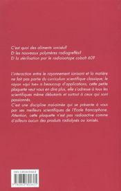 Action Biologique Et Chimique Des Rayonnements Ionisants - 4ème de couverture - Format classique