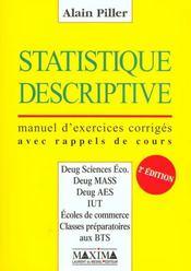 Statistique Descriptive - Intérieur - Format classique