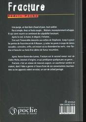 Fracture - 4ème de couverture - Format classique