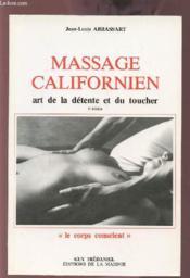 Massage californien art de la detente et du toucher - Couverture - Format classique
