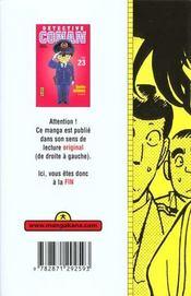 Detective Conan T23 - 4ème de couverture - Format classique