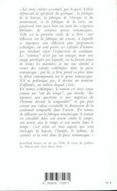 La fabrique du continu ; essai sur la prose - 4ème de couverture - Format classique