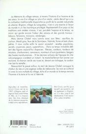 La memoire du village - 4ème de couverture - Format classique