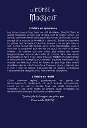 Le Monde De Mekklouf - 4ème de couverture - Format classique