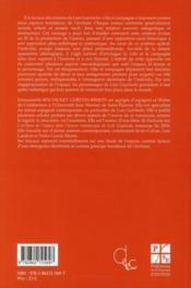 Luis Goytisolo ; une écriture entre ville et campagne - 4ème de couverture - Format classique