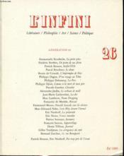 L'Infini N26 - Couverture - Format classique