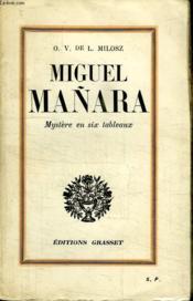 Miguel Manara. Mystere En Six Tableaux. - Couverture - Format classique