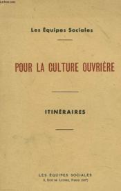 Pour La Culture Ouvriere - Couverture - Format classique