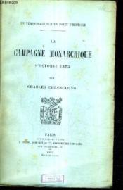 La Campagne Monarchique D'Octobre 1873 . - Couverture - Format classique