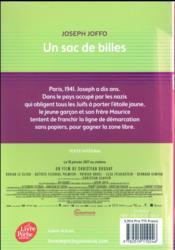 Un sac de billes - 4ème de couverture - Format classique