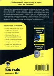 Excel 2019 poche pour les nuls - 4ème de couverture - Format classique