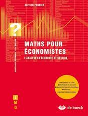 Maths pour économistes - Intérieur - Format classique