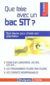 Que faire avec un bac stt ? 2e edition - Intérieur - Format classique