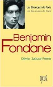 Benjamin Fondane - Couverture - Format classique