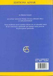Gayatri - 4ème de couverture - Format classique