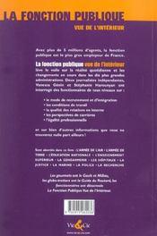 La Fonction Publique Vue De L'Interieur - 4ème de couverture - Format classique