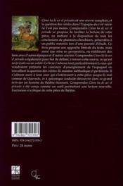 Comprendre cómo ha de ser el privado de Francisco de Quevedo - 4ème de couverture - Format classique