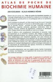 Atlas de poche de biochimie humaine (4e édition) - 4ème de couverture - Format classique