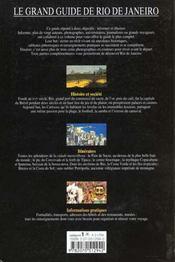 Le grand guide de rio de janeiro - 4ème de couverture - Format classique