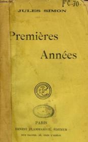 Premieres Annees. - Couverture - Format classique