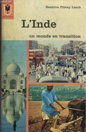 L'Inde Un Monde En Trasition - Couverture - Format classique