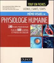 Mémo visuel de physiologie humaine - Couverture - Format classique