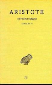Météorologiques t.2 ; livres 3 et 4 - Couverture - Format classique