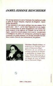 Jamel-Eddine Bencheikh - 4ème de couverture - Format classique