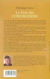 Le livre des conjurations ; les mots et les gestes qui protègent - 4ème de couverture - Format classique