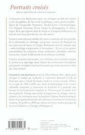 Portraits croisés ; Alexis de Tocqueville , Michel Leiris, V.S. Naipaul, Pierre Verger - 4ème de couverture - Format classique