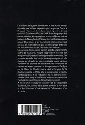 Cahiers de la guerre et autres textes - 4ème de couverture - Format classique