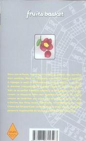 Fruits basket T.15 - 4ème de couverture - Format classique