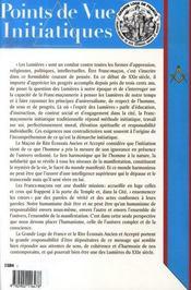 Points De Vue Initiatiques N.143 ; Le 21e Siècle, Nouveau Siècle Des Lumières ? - 4ème de couverture - Format classique
