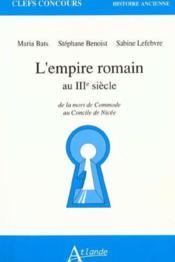 L'empire romain au 3e s. - Couverture - Format classique