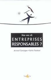 Vous Avez Dit Entreprises Responsables ? - Intérieur - Format classique