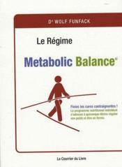 Le régime métaboli balance - Couverture - Format classique