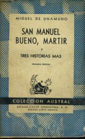San Manuel Bueno, Martir Y Tres Historias Mas - Couverture - Format classique