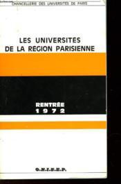 Les Universites De La Region Parisienne - Couverture - Format classique