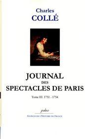 Journal des spectacles de Paris t.3 (1751-1754) - Intérieur - Format classique