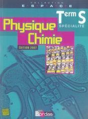 ESPACE LYCEE ; physique-chimie ; terminale S ; spécialité - Intérieur - Format classique