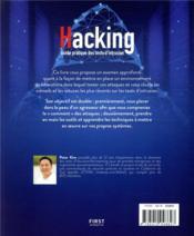 Hacking ; un guide partique des tests d'intrusion - 4ème de couverture - Format classique