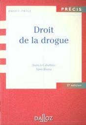 Droit de la drogue - 2e ed. - Intérieur - Format classique