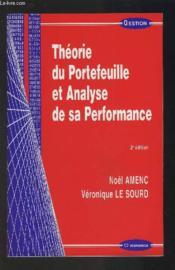 Theorie Du Portefeuille Et Analyse De Sa Performance - Couverture - Format classique