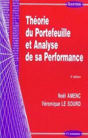 Theorie Du Portefeuille Et Analyse De Sa Performance - Intérieur - Format classique