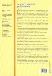 Améliorer ses écrits professionnels - 4ème de couverture - Format classique